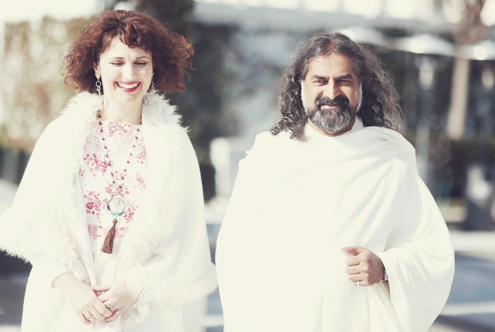 Mohanji walking with Devi Mohan